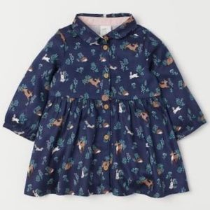 H&M Forest Animals Shirt Dress